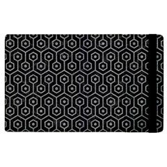 Hexagon1 Black Marble & Gray Colored Pencil Apple Ipad 2 Flip Case by trendistuff