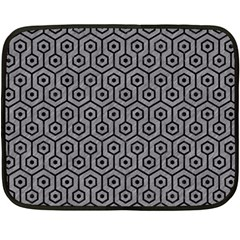 Hexagon1 Black Marble & Gray Colored Pencil (r) Double Sided Fleece Blanket (mini)