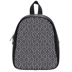 Hexagon1 Black Marble & Gray Colored Pencil (r) School Bag (small) by trendistuff