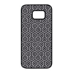 Hexagon1 Black Marble & Gray Colored Pencil (r) Samsung Galaxy S7 Edge Black Seamless Case by trendistuff