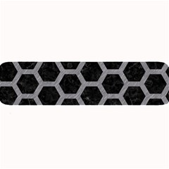 Hexagon2 Black Marble & Gray Colored Pencil Large Bar Mats by trendistuff