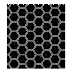 Hexagon2 Black Marble & Gray Colored Pencil Shower Curtain 66  X 72  (large)  by trendistuff