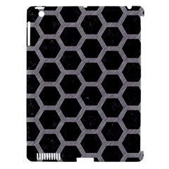 Hexagon2 Black Marble & Gray Colored Pencil Apple Ipad 3/4 Hardshell Case (compatible With Smart Cover) by trendistuff