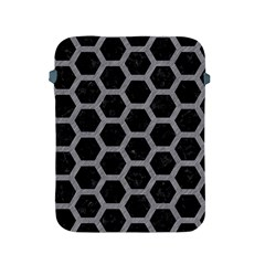 Hexagon2 Black Marble & Gray Colored Pencil Apple Ipad 2/3/4 Protective Soft Cases by trendistuff