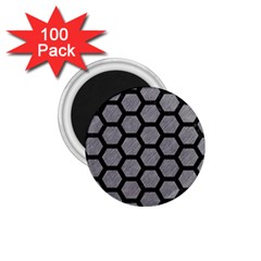 Hexagon2 Black Marble & Gray Colored Pencil (r) 1 75  Magnets (100 Pack)  by trendistuff