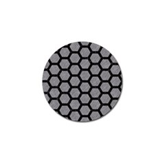 Hexagon2 Black Marble & Gray Colored Pencil (r) Golf Ball Marker (10 Pack) by trendistuff