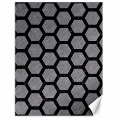 Hexagon2 Black Marble & Gray Colored Pencil (r) Canvas 18  X 24   by trendistuff