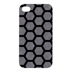 Hexagon2 Black Marble & Gray Colored Pencil (r) Apple Iphone 4/4s Hardshell Case by trendistuff