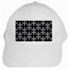 Puzzle1 Black Marble & Gray Colored Pencil White Cap by trendistuff