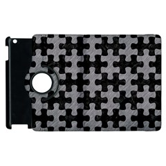 Puzzle1 Black Marble & Gray Colored Pencil Apple Ipad 2 Flip 360 Case by trendistuff