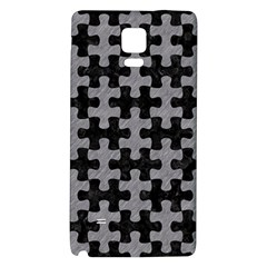 Puzzle1 Black Marble & Gray Colored Pencil Galaxy Note 4 Back Case by trendistuff