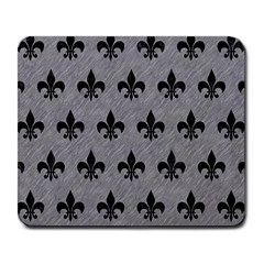 Royal1 Black Marble & Gray Colored Pencil Large Mousepads by trendistuff