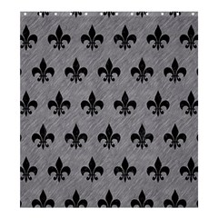 Royal1 Black Marble & Gray Colored Pencil Shower Curtain 66  X 72  (large)  by trendistuff