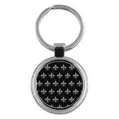 Royal1 Black Marble & Gray Colored Pencil (r) Key Chains (round)  by trendistuff