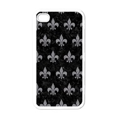 Royal1 Black Marble & Gray Colored Pencil (r) Apple Iphone 4 Case (white) by trendistuff