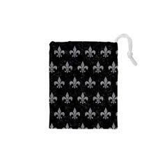 Royal1 Black Marble & Gray Colored Pencil (r) Drawstring Pouches (xs)  by trendistuff