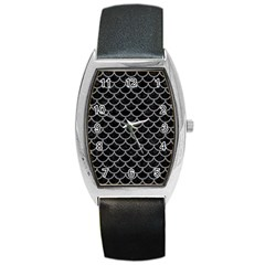 Scales1 Black Marble & Gray Colored Pencil Barrel Style Metal Watch by trendistuff