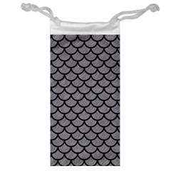 Scales1 Black Marble & Gray Colored Pencil (r) Jewelry Bag by trendistuff