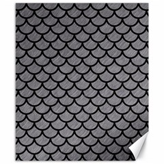 Scales1 Black Marble & Gray Colored Pencil (r) Canvas 8  X 10  by trendistuff