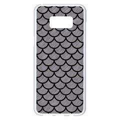 Scales1 Black Marble & Gray Colored Pencil (r) Samsung Galaxy S8 Plus White Seamless Case by trendistuff