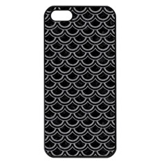 Scales2 Black Marble & Gray Colored Pencil Apple Iphone 5 Seamless Case (black) by trendistuff