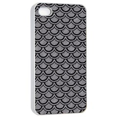 Scales2 Black Marble & Gray Colored Pencil (r) Apple Iphone 4/4s Seamless Case (white)