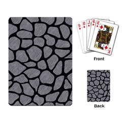 Skin1 Black Marble & Gray Colored Pencil Playing Card by trendistuff