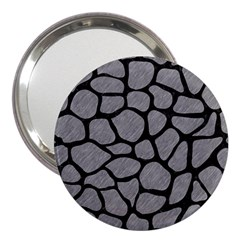 Skin1 Black Marble & Gray Colored Pencil 3  Handbag Mirrors by trendistuff