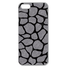Skin1 Black Marble & Gray Colored Pencil Apple Seamless Iphone 5 Case (clear) by trendistuff