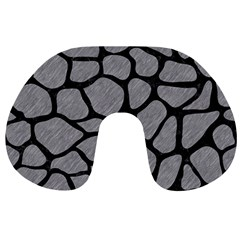 Skin1 Black Marble & Gray Colored Pencil Travel Neck Pillows by trendistuff