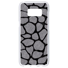 Skin1 Black Marble & Gray Colored Pencil Samsung Galaxy S8 White Seamless Case by trendistuff