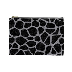 Skin1 Black Marble & Gray Colored Pencil (r) Cosmetic Bag (large)  by trendistuff