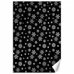 Xmas Pattern Canvas 24  X 36  by Valentinaart