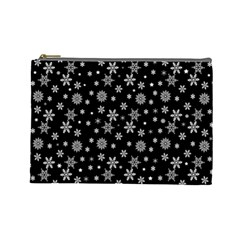 Xmas Pattern Cosmetic Bag (large)  by Valentinaart