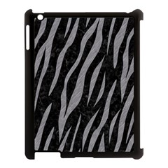 Skin3 Black Marble & Gray Colored Pencil Apple Ipad 3/4 Case (black) by trendistuff