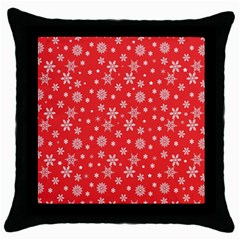 Xmas Pattern Throw Pillow Case (black) by Valentinaart