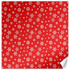 Xmas Pattern Canvas 16  X 16   by Valentinaart