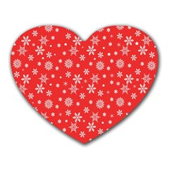 Xmas Pattern Heart Mousepads by Valentinaart