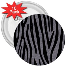Skin4 Black Marble & Gray Colored Pencil 3  Buttons (10 Pack)  by trendistuff