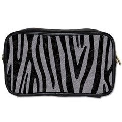 Skin4 Black Marble & Gray Colored Pencil Toiletries Bags 2 Side by trendistuff