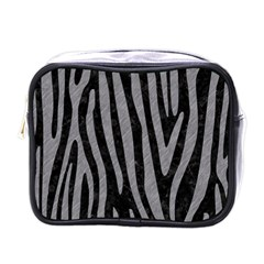 Skin4 Black Marble & Gray Colored Pencil (r) Mini Toiletries Bags by trendistuff