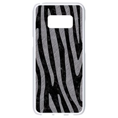 Skin4 Black Marble & Gray Colored Pencil (r) Samsung Galaxy S8 White Seamless Case