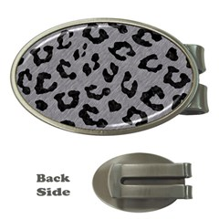 Skin5 Black Marble & Gray Colored Pencil Money Clips (oval)  by trendistuff