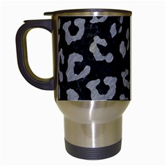 Skin5 Black Marble & Gray Colored Pencil (r) Travel Mugs (white) by trendistuff