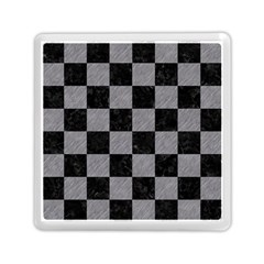 Square1 Black Marble & Gray Colored Pencil Memory Card Reader (square)  by trendistuff