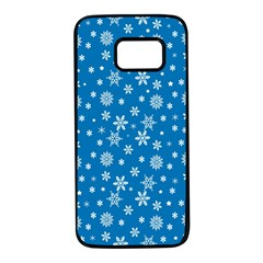 Xmas Pattern Samsung Galaxy S7 Black Seamless Case by Valentinaart