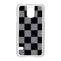Square1 Black Marble & Gray Colored Pencil Samsung Galaxy S5 Case (white) by trendistuff