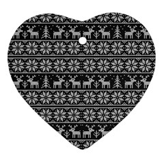 Xmas Pattern Ornament (heart) by Valentinaart