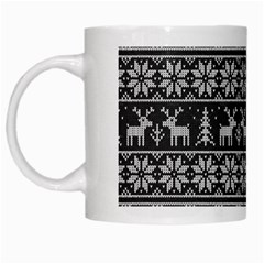 Xmas Pattern White Mugs by Valentinaart