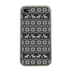 Xmas Pattern Apple Iphone 4 Case (clear) by Valentinaart